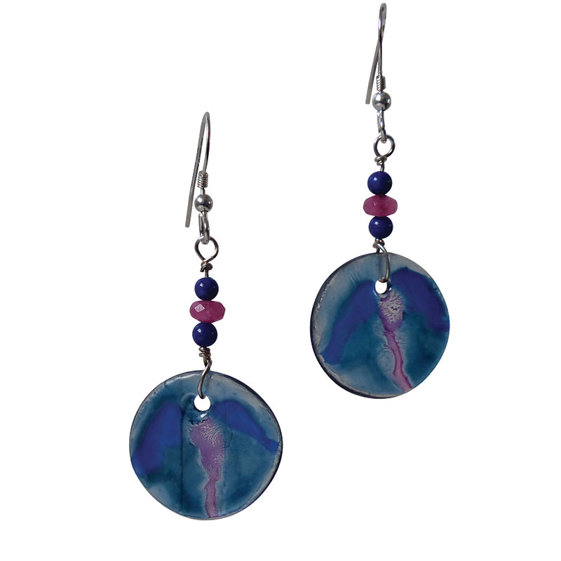 product jewellery earrings hill nicole and blue by stud artisan handcrafted sterling silver glass